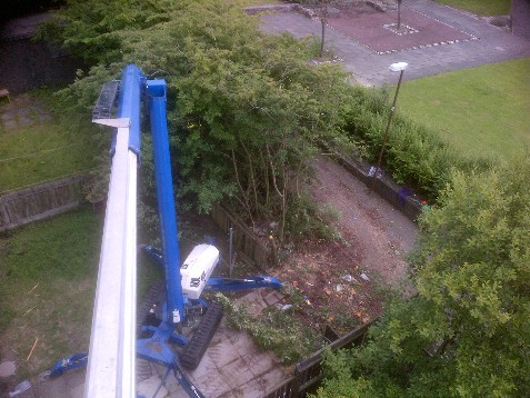 High Reach Booms,cherry picher,property maintenance,no scaffolding repairs