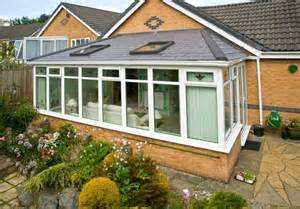 A Conservatory renovation with a Tiled roof in Tapco Slate